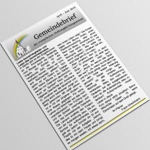 Gemeindebrief April bis Juni 2019